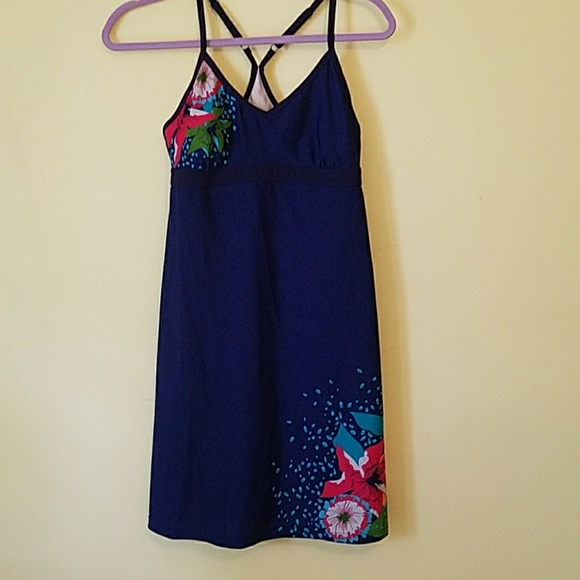Athleta Dresses & Skirts - Athleta Blue Floral Swim Dress